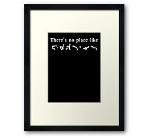There's No Place like Earth - Stargate Address Framed Print