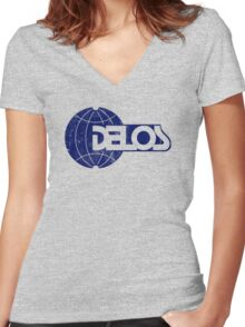 DELOS Women's Fitted V-Neck T-Shirt