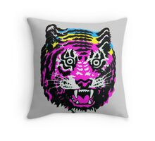 CMYK TIGER Throw Pillow