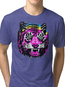 CMYK TIGER Tri-blend T-Shirt