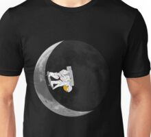 Moon Half-Pipe with skateboarding Astronaut V.2 Unisex T-Shirt