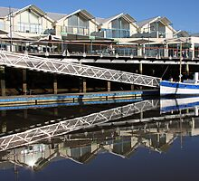 Seaport Marina Reflections - Launceston, Tasmania by Ruth Durose