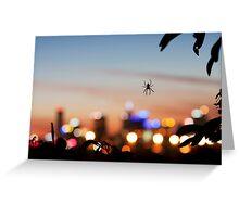 Spiderblur Greeting Card
