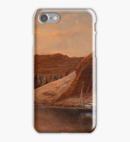 John Dümichen - (Glogow Strasbourg 1833-1894) View of Abu Simbel iPhone Case/Skin