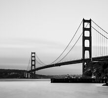 Monochrome Golden Gate by Ana Andres-Arroyo