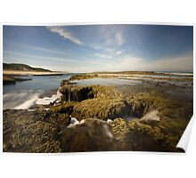 Waterfall Seascapes Poster