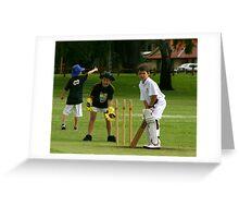 Junior cricket!! Greeting Card