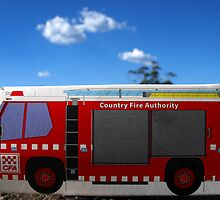 Little CFA truck residing in bushfire ravaged Jindivick, West Gippsland by Bev Pascoe