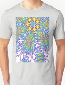 radiating colour psychedelic print T-Shirt