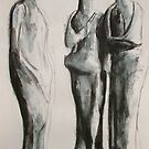 Study From Henry Moores-Three Standing Figures-1945 by Josh Bowe
