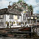 George and Dragon Pub and Restaurant England painting print by derekmccrea