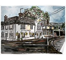George and Dragon Pub and Restaurant England painting print Poster