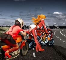 Ducati 450 and Asuka on Desmocedici by Weltscherz