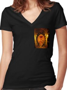 Chandelier At Riad Enija (detail), Marrakesh, Morocco Women's Fitted V-Neck T-Shirt