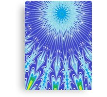 blue psychedelic crazy print Canvas Print