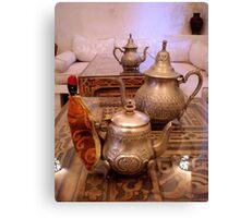 Tea Service, Marrakesh, Morocco Canvas Print