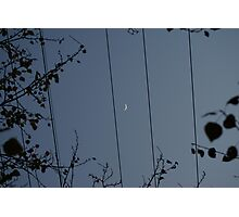 Moon on a wire Photographic Print