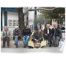Man Polishing Leather Shoes Shoeshine On Street Mugla Turkey Poster