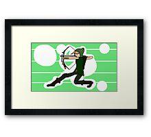 Dwerg Green Arrow (Option 2) Framed Print