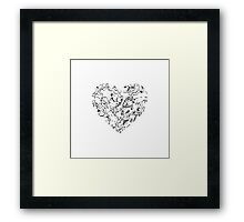Lace Silver Heart Framed Print