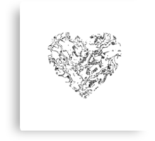 Lace Silver Heart Canvas Print