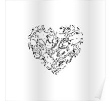 Lace Silver Heart Poster
