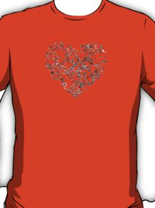 Lace Silver Heart T-Shirt