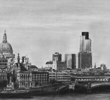 London Pencil Drawing by daverives