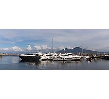 Vesuvius and the Boats Photographic Print