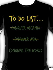 The Socceroos' to do List T-Shirt