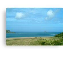 Clouds over dunes - Rock Cornwall Canvas Print
