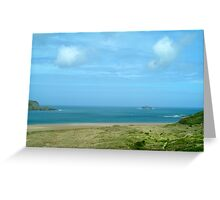 Clouds over dunes - Rock Cornwall Greeting Card