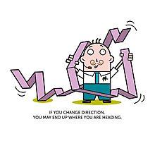Mr. White Collar - Change Direction Photographic Print