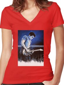 John Mayer Blues Women's Fitted V-Neck T-Shirt