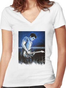 John Mayer Blues Women's Fitted V-Neck T-Shirt