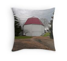 1915 Octagonal Barn Throw Pillow