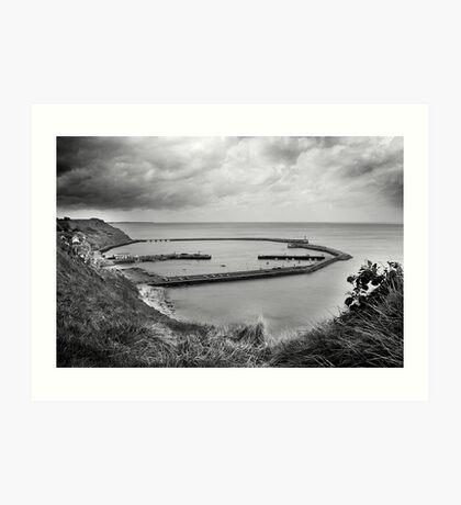 Port en Bessin, from the hill Art Print