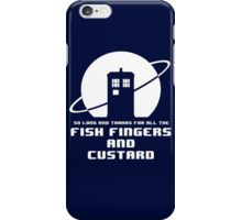 Fish Fingers and Custard White iPhone Case/Skin