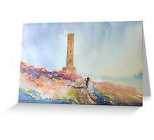 Holcombe Hill Cyclist Greeting Card