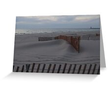 LONEY  COLD BEACH Greeting Card