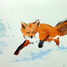 Snow Fox by LordOtter