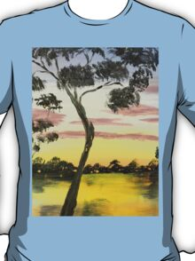 Sunrise over the Murray River at Lowson South Australia T-Shirt
