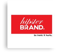 Hipster Brand Canvas Print