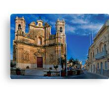 Gharb Parish Church Gozo Metal Print