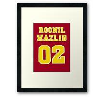 Roonil Wazlib Jersey design Framed Print