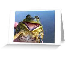 Screaming Bullfrog Greeting Card