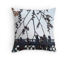 Spring blossom in the rush hour Throw Pillow