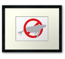 NO WHALES  Framed Print