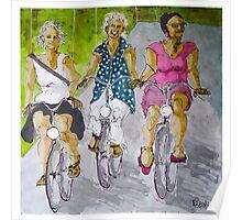 fietsvriendinnen Poster