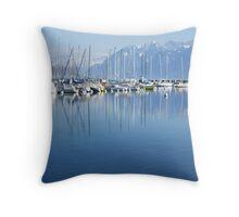 Ouchy's marina Throw Pillow